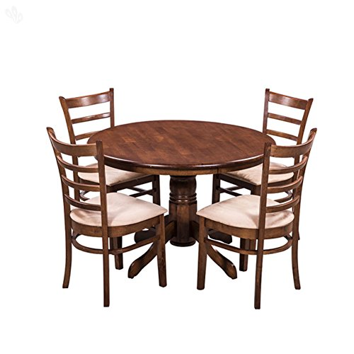 Royal Oak Coco Dining Table Set with 4 Chairs (Brown)