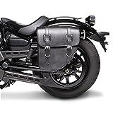 Satteltasche für Harley Davidson Dyna Wide Glide (FXDWG) Texas Schwarz links