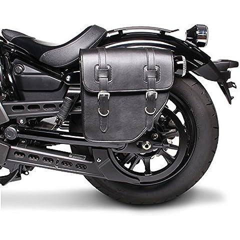 Alforja para Harley Davidson Sportster 883 Hugger (XLH 883) Texas Negro Izquierda