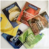 16 x Pasante Dental Dams -- Strawberry , Mint , Chocolate , Blueberry Flavour (For Safe Oral Sex)