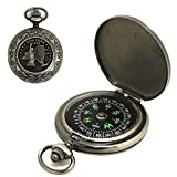Vintage Bronze Taschenuhr Kompass Portable Flip Hiking Camping - Best Reviews Guide