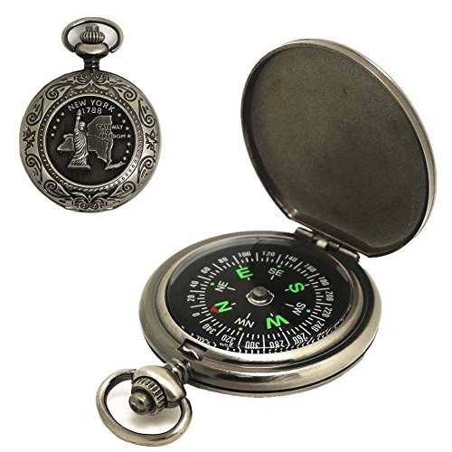 enuhr Kompass Portable Flip Hiking Camping Linsenkompass Kompass Outdoor Kompass Navigation Werkzeug–Tolles Geschenk für Kinder Kinder (Autos Party Favor Boxen)