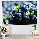 YUYINGXIANG Blaubeerwand-Tapisserie-Hauptdekoration-Wand-Teppich-modernes Druck-Gewebe-Yoga-Matten-Decken-Tapisserie,120x170cm