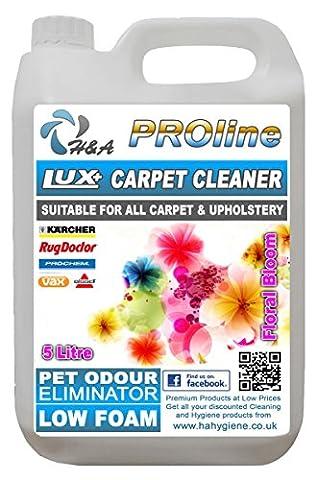H&A Proline Lux+ Carpet Shampoo Super Floral 5 Ltr, Compatible With All Machines