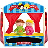 Hape International Wooden Puppet Stage Playhouse Set with Accessories