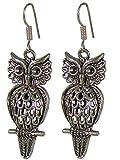 Saffron Craft fashion owl etched alloy m...