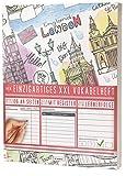 Mein Einzigartiges XXL Vokabelheft: 100+ Seiten, 2 Spalten, Register / Lernerfolge auf jeder Seite zum Abhaken / PR101 Englisch Stamps / DIN A4 Softcover