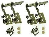 4Youngdale côté gauche Dialed # 65L Laiton antique recouvrement de 1/21/2–3/10,2cm d'épaisseur de porte dissimulée Snap Fermeture Cabinet Charnières sans cadre encadrée visage pare-chocs Vis facile Installation simple Embedded