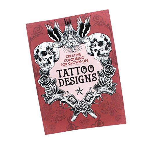 T TOOYFUL 126 Seiten Tattoo Nachschlagewerk Skull Skeleton Dragon Animal Flower Art Sketch