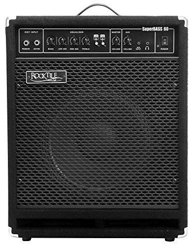 """Rocktile SB-60 SuperBass60 Bassamp 60 Watt (Bassverstärker Combo, 12"""" Speaker, 60W RMS, EQ + Low/High Boost, Anschluss Kopfhörer, Effektschleife, Instrumenteneingänge Passive & Active, Line Out)"""