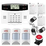 Fuers - G2 Kit Alarme Maison sans Fil GSM/PSTN, Sirène, Détecteur de Mouvement Compatible Animaux pour Alarme, PIR Animal