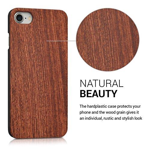 kwmobile Hülle für Apple iPhone 7 / 8 - Case Handy Schutzhülle Rosenholz auf Kunststoff - Hardcase Cover Indische Sonne Design Dunkelbraun .Rosenholz Braun