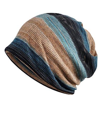 Luccy K Herren Premium Slouchy Knit Beanie Hat für Camping & Wandern Joggen, Radfahren Skifahren-Liner Skull Cap-Jahr Rund Komfort, NEW-007, Einheitsgröße -
