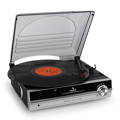 Auna TBA-928 Black,Silver - Audio Turntables (Black, Silver, 33,45 RPM, AC, 310 mm, 290 mm, 120 mm)