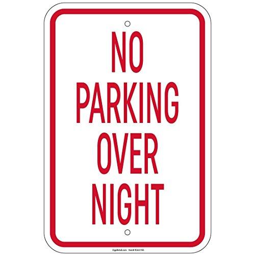 impreqaa alcun segno di parcheggio durante la notte 30,5x 40,6cm alluminio segni negozio al (Parcheggio Negozio)