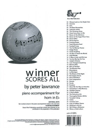 Winner Scores All Lawrance Eb Horn Piano Accomps by Arr: Lawrance Various (1-Nov-2009) Sheet music