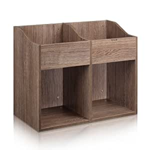 Zomo meuble en bois avec 2 bacs 2 casiers pour 400 480 vinyles beige amazon - Meuble pour disque vinyle ...