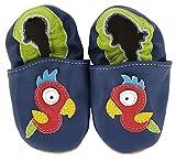 Krabbelschuhe Papagei von baBice, Schuhgröße:18/19 (6-12 Monate);Uni Schuhe:blau