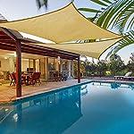 KingShade 2.5x4m Rechteck Wetterbeständig HDPE Sonnensegel, UV-Schutz Sonnenschutz Garten Balkon und Terrasse, Cremeweiß