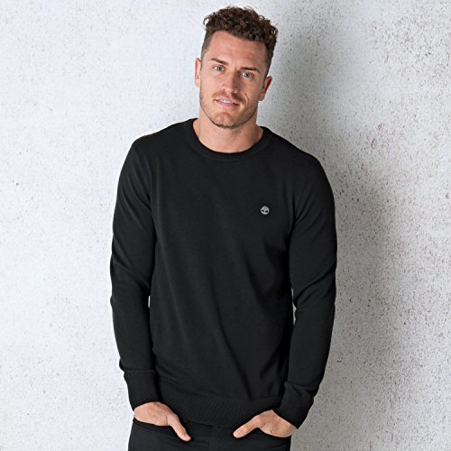 Timberland Mens Mens Williams River Crew Neck Jumper in Black - XL