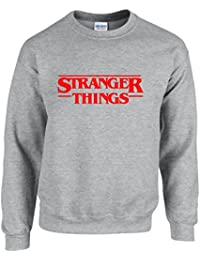 STRANGER THINGS ~ SCI FI HORROR NEW SEASON ~ GREY SWEATSHIRT ~ UNISEX SIZES S - XXL