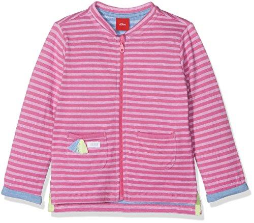 s.Oliver Baby-Mädchen Sweatshirt 65.802.43.5029, Rosa (Prink Stripes 44G2), 62