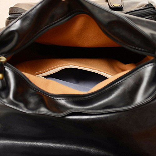 ZHUDJ Hip Hop Tide Marke Rucksack Männlichen Koreanisch-Amerikanischen Britischen All-Match Mode Metrosexual Cortex Street Fashion Bag, Schwarz black