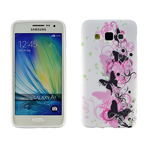 Image of zkiosk 2162013Protective Case For Samsung Galaxy A3Pink Butterfly Design