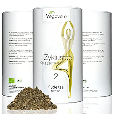 Cycle Tea 2 for Woman's 2nd-Half of Pregnancy 100g | 100 % organic quality | Tea mixture of various herbs to harmonize during the first half of the cycle | packaged in flavor preservation pouches | Lifetime satisfaction guarantee by