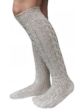 Lange Herren Trachten Socken, Kniebund Socken, Strümpfe für ihre Lederhose, 1 Paar beige/meliert