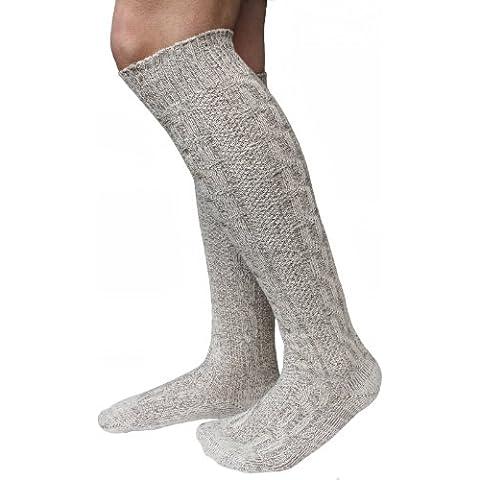 Calcetines de vestir vestido largo calcetines coleta calcetines moteados (41-43)
