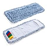 Mikrofasermop Baumwollmop Profimop Duo Clean 40 cm blau für alle Klapphalter mit 40 cm breite CS1342