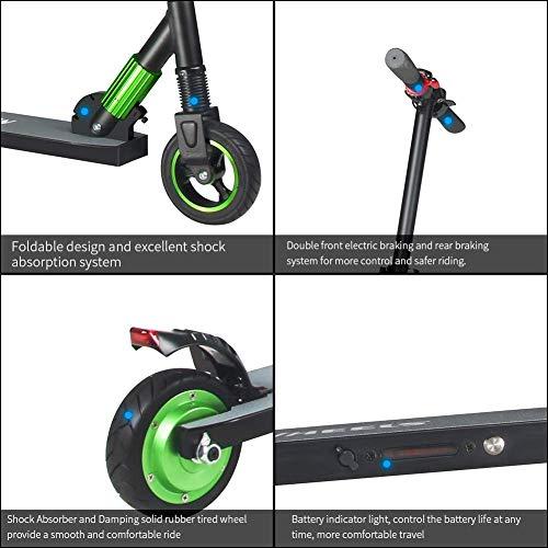 M MEGAWHEELS Elektro Scooter Faltbarer Elektroscooter Cityroller 250W 23km/h Kurze Distanz Perfekt für Jugendliche und Erwachsene (Grün)