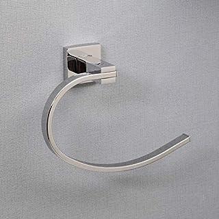 Architeckt Bathroom Curved Towel Ring Holder Square Wall Mount Modern Polished Chrome