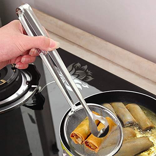 Mimagogo Multifunktionale Stahlkon- Filter Lffel mit Klipp-Öl-Braten Filter
