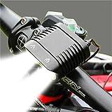 LED Fahrradlicht Fahrradlampe Lampe vorne Radfahren Reiten Sicherheit Wasserdicht Extrem helle Scheinwerfer, Schwarz