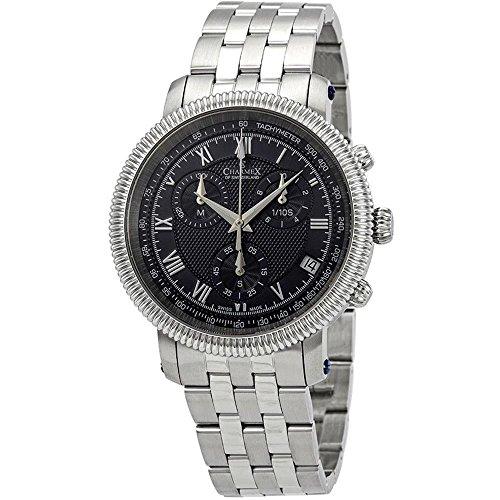 Charmex Men's President II 42mm Steel Bracelet Quartz Blue Dial Watch 2997