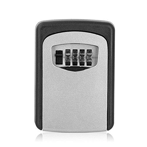 Yosoo Schlüsseltresor Schlüsselschrank Schlüsselkasten mit Zahlenschloss für Wandmontage (Mini-tresor Mit Schloss)
