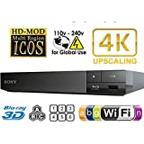 2015 SONY BDP-S6500 4k Upscaling - 2D/3D - Wi-Fi - Multizone All Region Code Free DVD Blu Ray Player - 2M HDMI Lead Included - 100~240V 50/60Hz Worldwide Voltage AUTO - Comes with the UK Power Supply provided by MultiSystem-Electronics