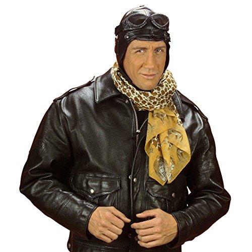 Berretto da aviatore in finto cuoio cappuccio copricapo pilota cappello  similpelle Barone Rosso e8ee54529ebb