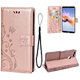 Teebo Case for Huawei Honor 7X, PU Leather Wallet Flip