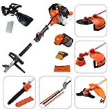Todeco - Multifunction Garden Tool, Petrol Multi Tool - Engine displacement: 52 cm³