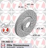 ZIMMERMANN 370.3083.52 Bremsscheibe Scheibenbremsen, Bremsscheiben (x2)