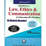 #9: A HAND BOOK LAW, ETHICS & COMMUNICATION ( FOR CA INTERMEDIATE (IPC) (OLD SYLLABUS)