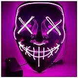Angel ZYJ Halloween Maske LED Light EL Wire Cosplay Maske Purge Mask für Festival Cosplay Halloween Kostüm (Rose)