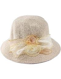 Gysad Arco Sombrero de Paja Dulce Sombrero de Pescador Elegante Sombrero  Mujer Gorras da43a8c7f40