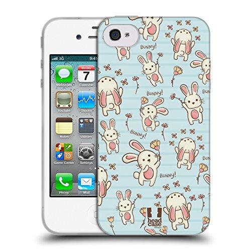 Head Case Designs Schwein Süsse Doodle Soft Gel Hülle für Apple iPhone 6 Plus / 6s Plus Hase