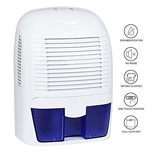 Luftentfeuchter, Aidodo Mini Luftentfeuchter Elektrisch Testsieger Luft Entfeuchter Mobiler Lufttrockner Elektrischer Raumluftentfeuchter Bad Keller Schlafzimmer Küche mit 1.5L Wassertank
