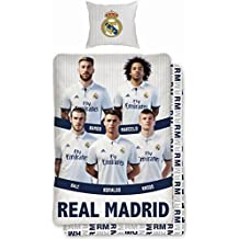 Conjunto de funda para edredón de algodón, exclusiva del Real Madrid CF