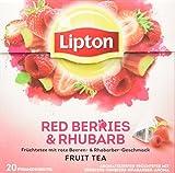 Lipton Früchtetee, Erdbeere Himbeere Rhababer Pyramidenbeutel, 20 Stück